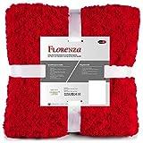 [page_title]-CelinaTex Florenza Kuscheldecke 150 x 200 cm rot Mikrofaser Tagesdecke kuschelig Flauschige Plüschdecke Wohndecke