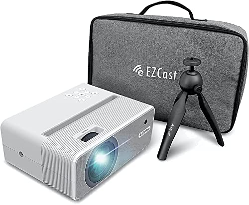 Set of EZcast Beam H3 Native 1080P Projector, Carrying Bag, Mini Tripod, The Ultimate Travel Pack Bundle
