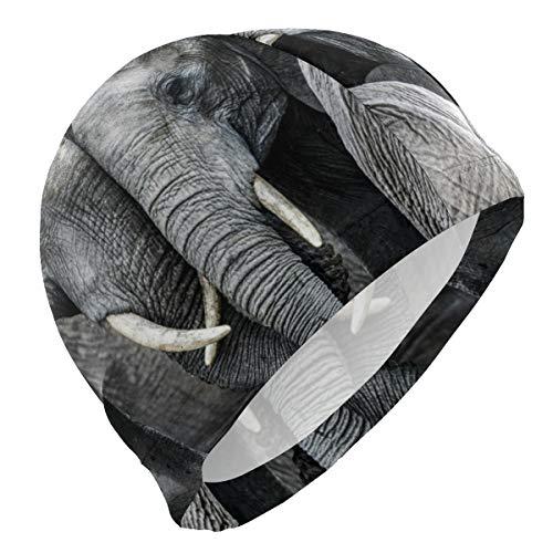 PINLLG Bonnet de bain Animal Elephant Bonnet de bain pour homme garçon adulte adolescent chapeau de natation sans dérapant