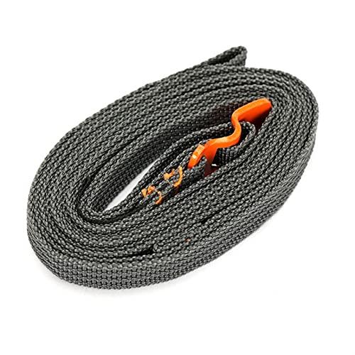 kengbi Cinturino da carico Portatile Facile da Usare 200 cm Load 125kg Durevole Nylon Cargo Cravatta per i Bagagli Cintura per Cintura con Fibbia Camping Kit da Viaggio Camping Deposito Bagagli