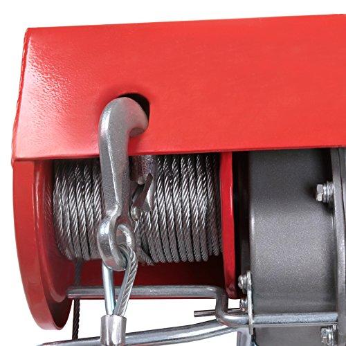 Timbertech Elektrische Seilwinde mit Kabel-Fernbedienung Motorwinde Tragfähigkeit 800 kg, 230 V