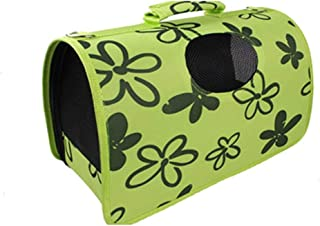 Royale Dog Pet Dog Cat Puppy Portable Travel Carry Carrier Tote Cage Bag Crates Kennel New-Green & Black Printed -Size: 44...