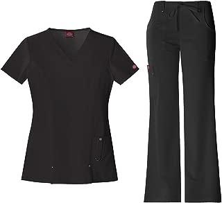 Xtreme Stretch Women's V-Neck Top 82851 & Drawstring Pant 82011 Scrub Set