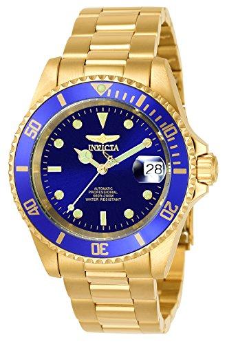 Invicta Relógio masculino automático Pro Diver 40 mm dourado de aço inoxidável com borda de moeda, dourado/azul (modelo: 8930OB)