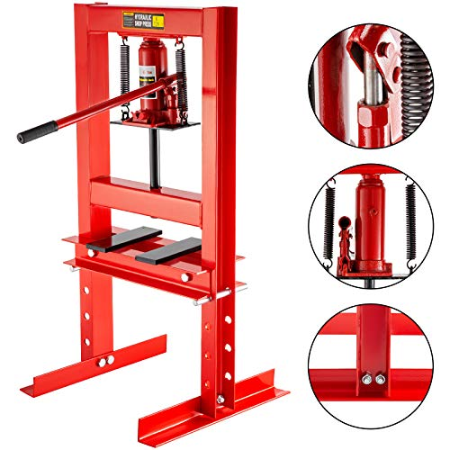 Mophorn Hydraulic Shop Press 6 Ton H-Frame Hydraulic Press 13227lbs with Heavy Duty Steel Plates