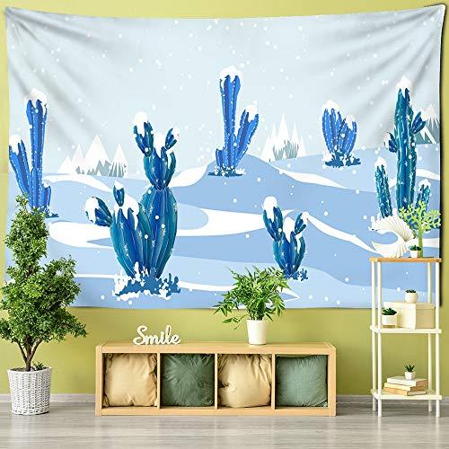 Árbol de dibujos animados decoración de la habitación de los niños colgante de pared árbol de roble apple cactus tapiz revestimiento de paredes mandala tapiz tela de fondo a3 73x95cm
