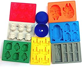 Owfvlazi Silicone Nonstick Star Wars Shape Ice Cube Tray Chocolate Candy Moulds Kit Stormtrooper Darth Vader X-Wing Fighte...