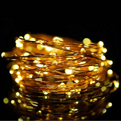 ATTAV USB LED Fairy Lights, 33 Ft 100 LEDs Starry String Lights, Waterproof Copper Wire Lights for Bedroom Christmas Party Camping Wedding Dancing Patio (Warm White)