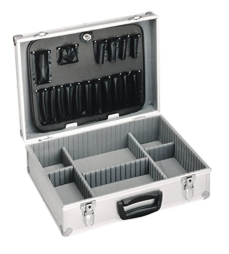 Meister Werkzeugkoffer leer, 460 x 330 x 150 mm - Verstärkter Rücken - Individuelle Fachaufteilung - Abschließbar / Werkzeugkiste / Organizer / Alu-Koffer leer / 9095000