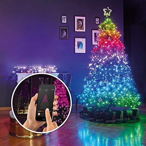 Guirlande Lumineuse Connectée TWINKLY 400 LED pour Sapin de Noël - Génération II 2019 - Contrôlable Via Smartphone pour des Effets Visuels Inédits en Exclusivité chez Festive Lights (32m)