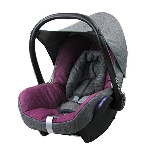 BAMBINIWELT Ersatzbezug für Maxi-Cosi CabrioFix 6-tlg. GRAU/PINK, Bezug für Babyschale, Komplett-Set XX