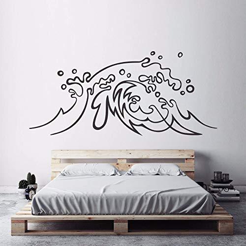 Tianpengyuanshuai Diseño náutico Pegatinas de Pared Vinilo Tatuajes de Pared Artista de Surf Decoración del hogar 57X26cm