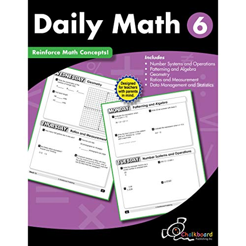 Creative Teaching Press CTP8192 Daily Math Workbook, Grade 6
