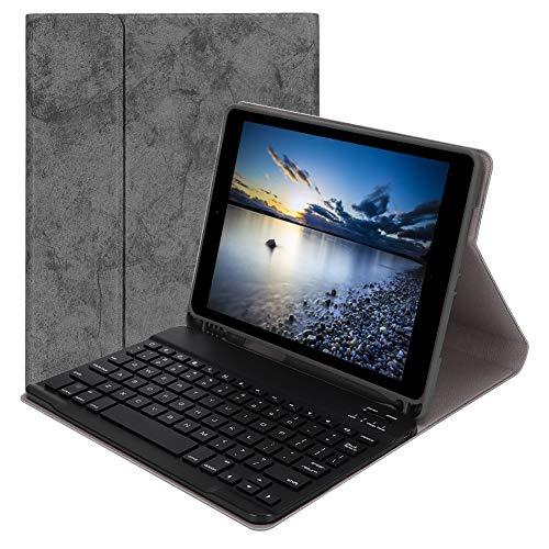 Wendry Bluetooth-Tastatur, Smart Sleep Tablet Split-Schutzhülle für Bluetooth-Tastatur für Tablet, Tablet-Tastaturhalterung mit Stifthalterung, Tastatur mit Tastenkombination(Grau)