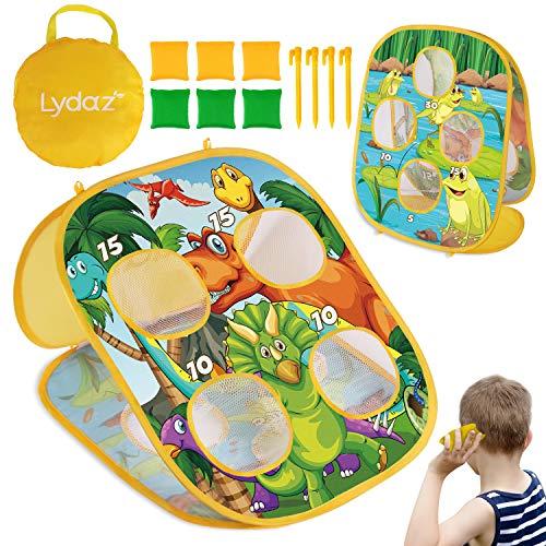 Lydaz Bean Bag Toss Game for Kids, Outdoor Beach Toys for Toddlers - Double Sided Dinosaur  Kansas