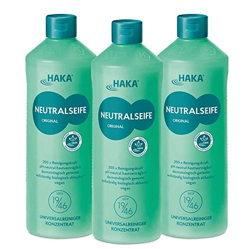 HAKA Neutralseife Pastös I 3 x 1 kg Neutralreiniger I Universalreiniger für Haushalt und Auto I PH-neutrales Reinigungsmittel I Biologisch abbaubar