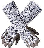 Garden gloves women, KAYGO KG128SG, For Every Beautiful Women and Her Lovely long gardening gloves (Long Forearm)