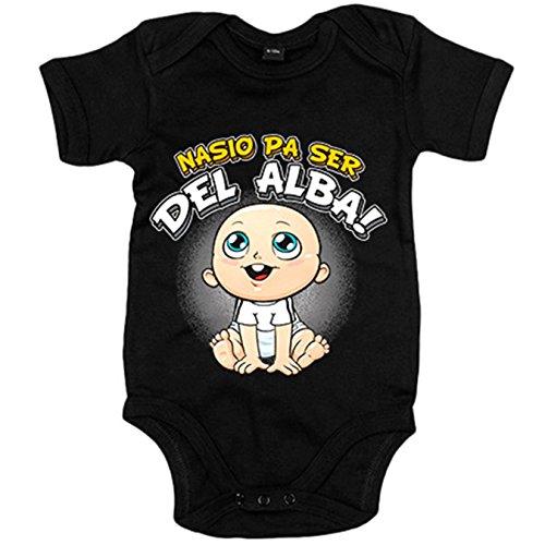 Body bebé nacido para ser del Alba Albacete fútbol - Negro, 12-18 meses