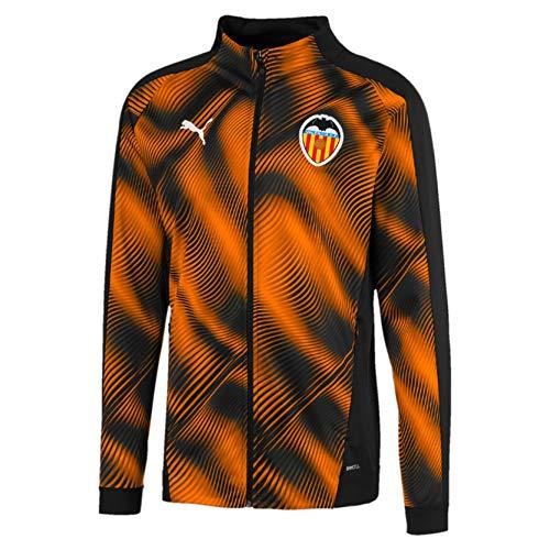 Puma Valencia CF Temporada 2020/21-Stadium Jacket Chaqueta, Unisex, Negro Black-Vibrant Orange, M