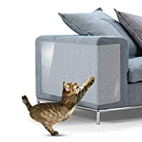 ✿【MAXIMIZE PROTECTION OF FURNITURE】Cat couch protector works on any upholstered furniture.With Self-Adhesive Sheets and Twist pins providing more coverage and extra assurance that the pads will stick well on your couch .This cat scratch deterrent can...