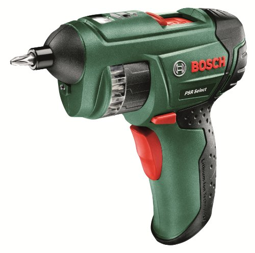 Bosch PSR Select Cordless Lithium-Ion Screwdriver with 3.6 V Battery, 1.5 Ah by Bosch