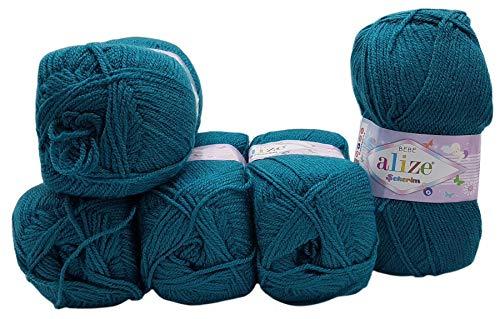 5 ovillos de lana para tejer Alize Bebe de 100 g, color...