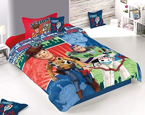 Carmi Disney Toy Story Edredón Individual Azul 3 Piezas
