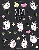 Unicorno Kawaii Agenda 2021: Pianificatore Annuale 2021 | Da Gennaio a Dicembre (12 Mesi) | Organizer & Diario