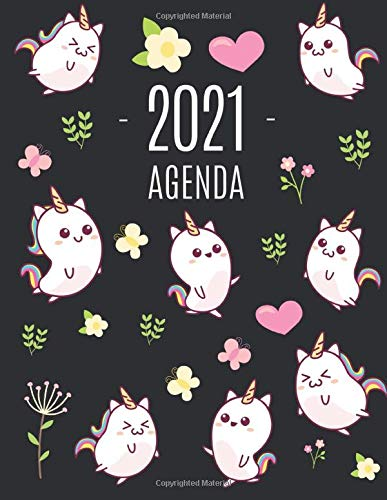 Unicorno Kawaii Agenda 2021: Pianificatore Annuale 2021   Da Gennaio a Dicembre (12 Mesi)   Organizer & Diario