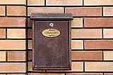 PISDEZ Namensschild Wohnungsschild Türschild Briefkastenschild Klingelschild Familienschild Einweihungsgeschenk Wohnung Holz personalisiert Lasergravur Gravur Geschenkidee 9cm x 4cm Schneider