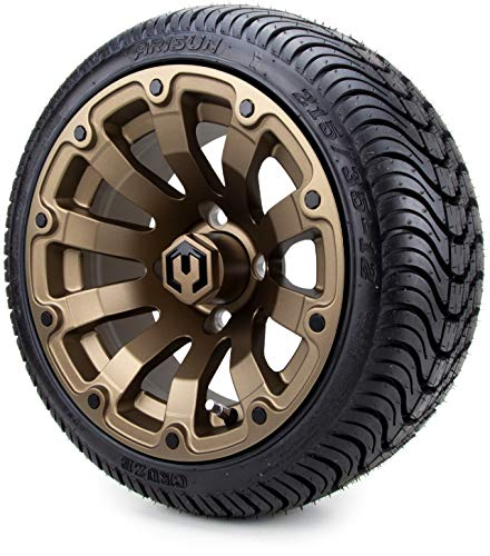 "12"" MODZ Bomber Matte Bronze Wheels & Tires"