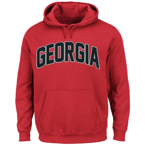 Majestic NCAA University of Georgia - Chaqueta con Capucha para Hombre, Manga Larga, Color Rojo, XL