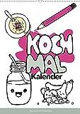 KOCH MAL KALENDER - Lustige Rezepte zum Ausmalen (Wandkalender 2021 DIN A2 hoch): Leckere und simple Rezepte illustrativ dargestellt! (Monatskalender, 14 Seiten )