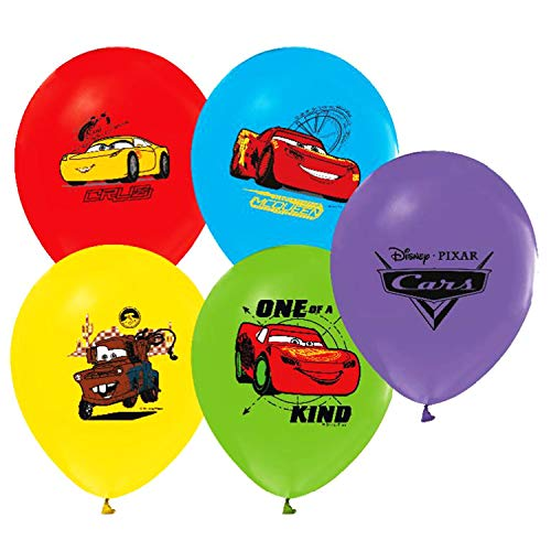 Disney Cars 3 Balloons 12' Pixar Latex Party Supplies Birthday 1 2 cars3 Decorations Lightning McQueen Tow Mate Mater Rayo, Package of 12 Assorted Set