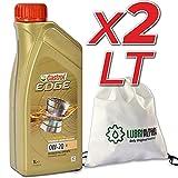 Olio motore 0w20 auto benzina diesel Castrol Egde 0w20 V con borsa multiuso conf. 2x1lt