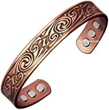 Art Of Creation Pure Copper Magnetic Bracelet with 6 Powerful Magnets for Arthritis