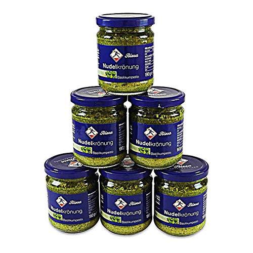 Basilikum Pesto, Nudelkrönung 6er Pack (6 x 190 g Glas)