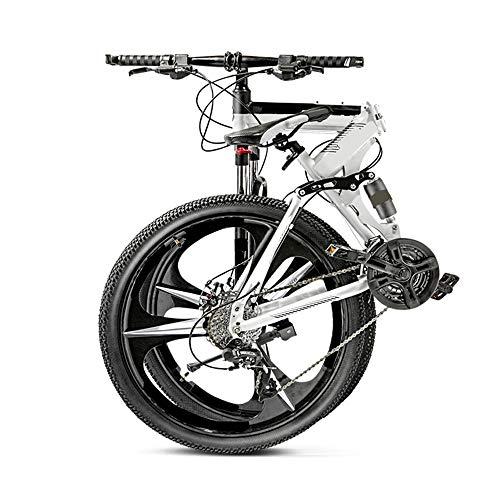 MH-LAMP Mountain Bike Klapprad, Bike26 Zoll, Fahrrad 21 Gang, Rahmen aus Kohlenstoffstahl, MTB Hardtail mit Gabelfederung, Scheibenbremsen