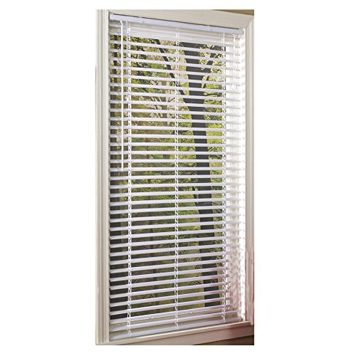 Project Source 1-in Cordless White Vinyl Mini-Blinds