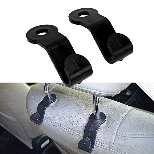 itimo 1Paar Auto-Verschluss Clip Auto Rücksitz Kopfstütze Bag Kleiderbügel Auto Haken für Tasche Flasche Auto Organizer Zubehör Langlebig 2,5kg