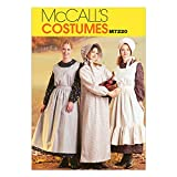 McCall's Costumes M7220, Women's Pioneer Costume Dress Sewing Pattern, Small