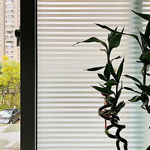LMKJ Película autoadhesiva para persianas esmeriladas, Pegatina de Vidrio de Vinilo de protección de privacidad Opaca, película para Ventanas de Vidrio para el hogar A51 60x100cm