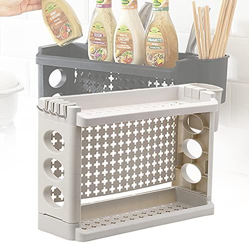 ZMZ Estante Cocina, Especiero de Almacenamiento Multifuncional, Cuencos y Tazas para Utensilios de Cocina, 2pcs