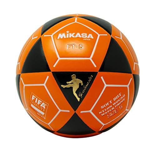Mikasa FT5 Goal Master Balón de fútbol, negro/naranja, talla 5