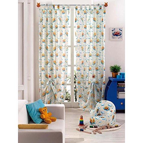 Disney Tenda winnie the pooh arredo cameretta 140x290 velo col panna G276