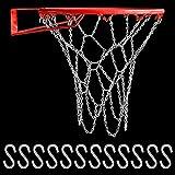 CODIRATO Red de Repuesto para Baloncesto Reemplazo de Cadena Altamente Durable Red de Baloncesto de Robusto Metal Redes de Hierro Galvanizado Cadena Baloncesto para Interior y Exterior