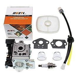 HUZTL Carburateur pour débroussailleuse Echo GT225 GT225i GT225L PAS225 PE225 PPF225 SHC225 SRM225 SRM225U avec kit de…