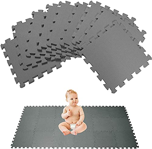 HOMLUXCARE 10x Alfombrilla entrelazada Espuma Gruesa y Suave Azulejos Protección Yoga Gimnasio Protección y Entretenimiento para niños y bebés Alfombrilla para Rompecabezas, 30x30