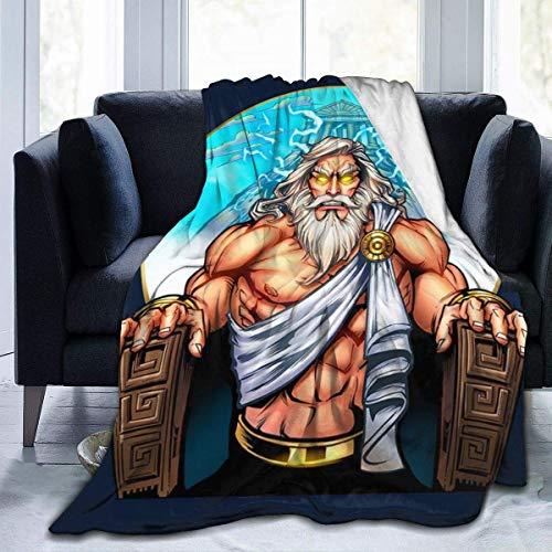zhenglongbaihuodian Zeus On The Throne Fleece Flanelldecke Leichte, ultraweiche, warme Bettdecke mit passendem Sofa