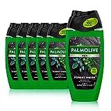 Palmolive Men Duschgel Forest Fresh 6 x 250ml - 3in1 für Körper, Gesicht & Haar - mit Salbei- &...